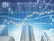 Business charts composing Stock Photos