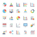 Business Charts and Diagrams Colored Icons 1 Stock Photography