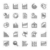 Business Charts and Diagrams Vector Line Icons 2 Stock Photo