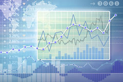 Business charts. Different types of business charts Royalty Free Stock Photos