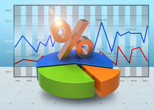 Business charts Stock Images