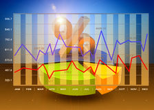 Business charts. Financial graphs as a successful business concept Stock Images