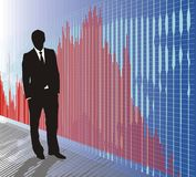 Business charts, Forest Chart. Spreadsheet data and business charts, Europe, Asia, Forest Chart Royalty Free Stock Images