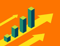 Business charts going up royalty free illustration