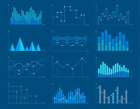 Business charts and graphs infographic elements. Vector illustration. Set of different graphs and charts, information on charts, statistical data. Business Stock Photos