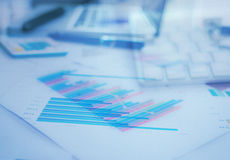 Business charts Royalty Free Stock Image