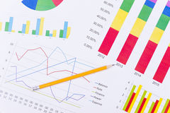 Business charts and numbers. Business charts with details and numbers Royalty Free Stock Photography