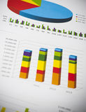 Business charts and numbers. Business charts with details and numbers Stock Photo