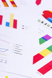 Business charts and numbers. Business charts with details and numbers Stock Images