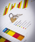 Business charts and numbers. Business charts with details and numbers Royalty Free Stock Image