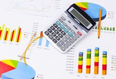 Business charts and numbers. Business charts with details and numbers Stock Image