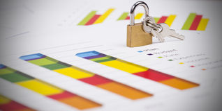 Business charts and numbers. Business charts with details and numbers Royalty Free Stock Photo