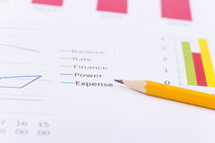 Business charts and numbers. Business charts with details and numbers Royalty Free Stock Images