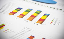 Business charts and numbers Royalty Free Stock Photography