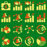 Business charts and reports icons Stock Image