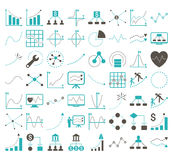 Business Charts With Rhombus Dots Vector Icons Royalty Free Stock Photos