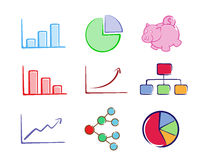 Business charts set Stock Photos