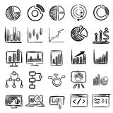 Business Charts Vector Doodles Royalty Free Stock Photos