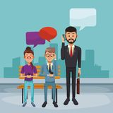 business chatting people διανυσματική απεικόνιση