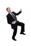 business cheering man Στοκ εικόνες με δικαίωμα ελεύθερης χρήσης