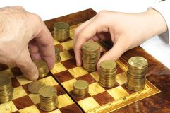 Business chess stock photo