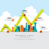 Business Chess Infographic Royalty Free Stock Images