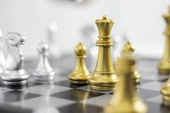 Business chess, smart business, business game Every game exchange is worthwhile. royalty free stock photos