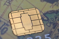 Business chip card Stock Image