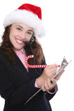 Business at Christmas Royalty Free Stock Photography