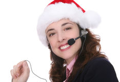 Business at Christmas Royalty Free Stock Images