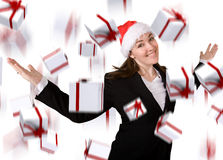 Business christmas bonus Royalty Free Stock Image