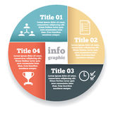 Business circle info graphic, diagram Royalty Free Stock Photography