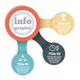 Business circle info graphic, diagram Stock Images