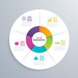 5 business circle infographic background template with data. Can Royalty Free Stock Image