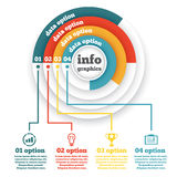 Business circle infographic, chart, diagram Royalty Free Stock Images