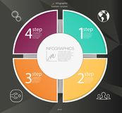 Business circle infographic concept. Vector circle elements for infographic. Template infographic 4 position. Steps Stock Photography