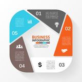 Business circle infographic, diagram with options Stock Images