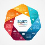 Business circle infographic, diagram with options Stock Photo