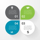 Business circle infographic, diagram, presentation Royalty Free Stock Photography