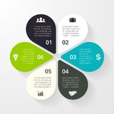 Business circle infographic, diagram, presentation. Layout for your options or steps. Abstract template for background Royalty Free Stock Images
