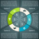 Business circle infographic, diagram, presentation Stock Image