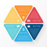 Business circle infographic, diagram, presentation. Layout for your options or steps. Abstract template for background Royalty Free Stock Photos