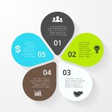 Business circle infographic, diagram, presentation. Layout for your options or steps. Abstract template for background Stock Photography