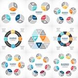 Business circle infographic, diagram, presentation Stock Photos