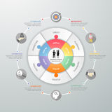 Business circle infographic template,. Business concept infographic template, Can be used for workflow layout, banner, diagram, web design, timeline royalty free illustration