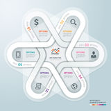 Business circle Infographics origami style. Stock Photo