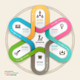 Business circle Infographics origami style. Stock Photography