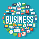 Business circle infographics template concept. Icons design for your product or design, web and mobile applications Stock Photo