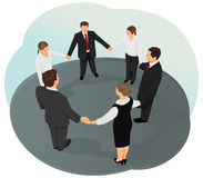 Business circle Royalty Free Stock Image