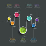 Business circle timeline banner. Modern business infographic. Infographic number options. Winding timeline. Web Design Element. Vector EPS 10 Royalty Free Stock Photos